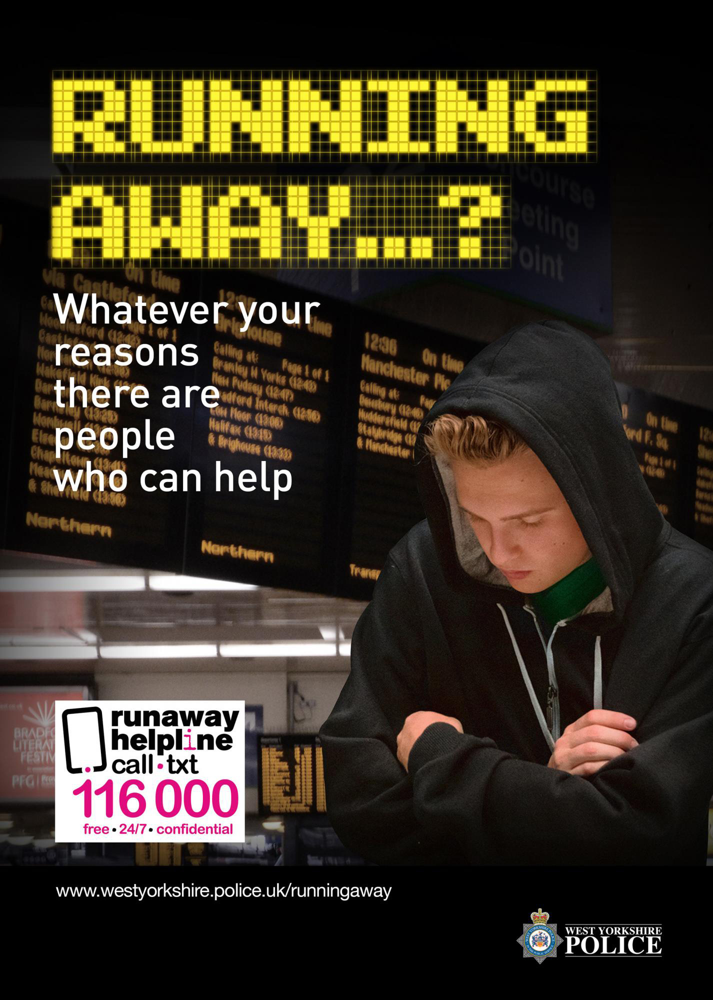 Running away campaign poster