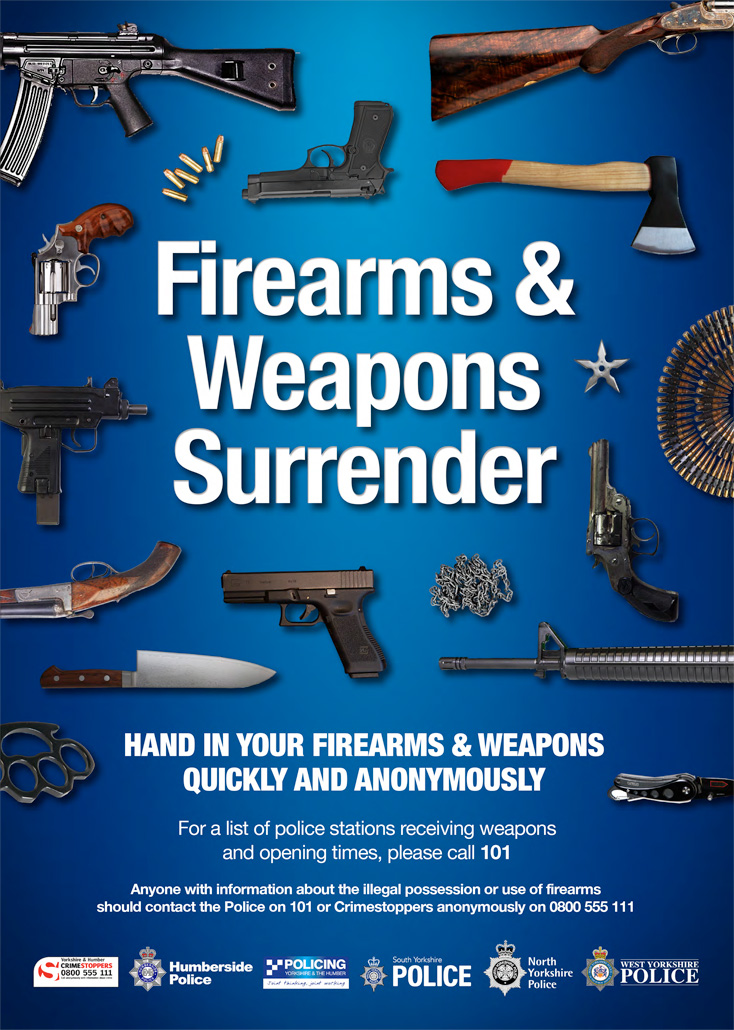Firearms and weapons surrender