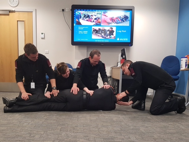 Special Constables receiving First Aid Training