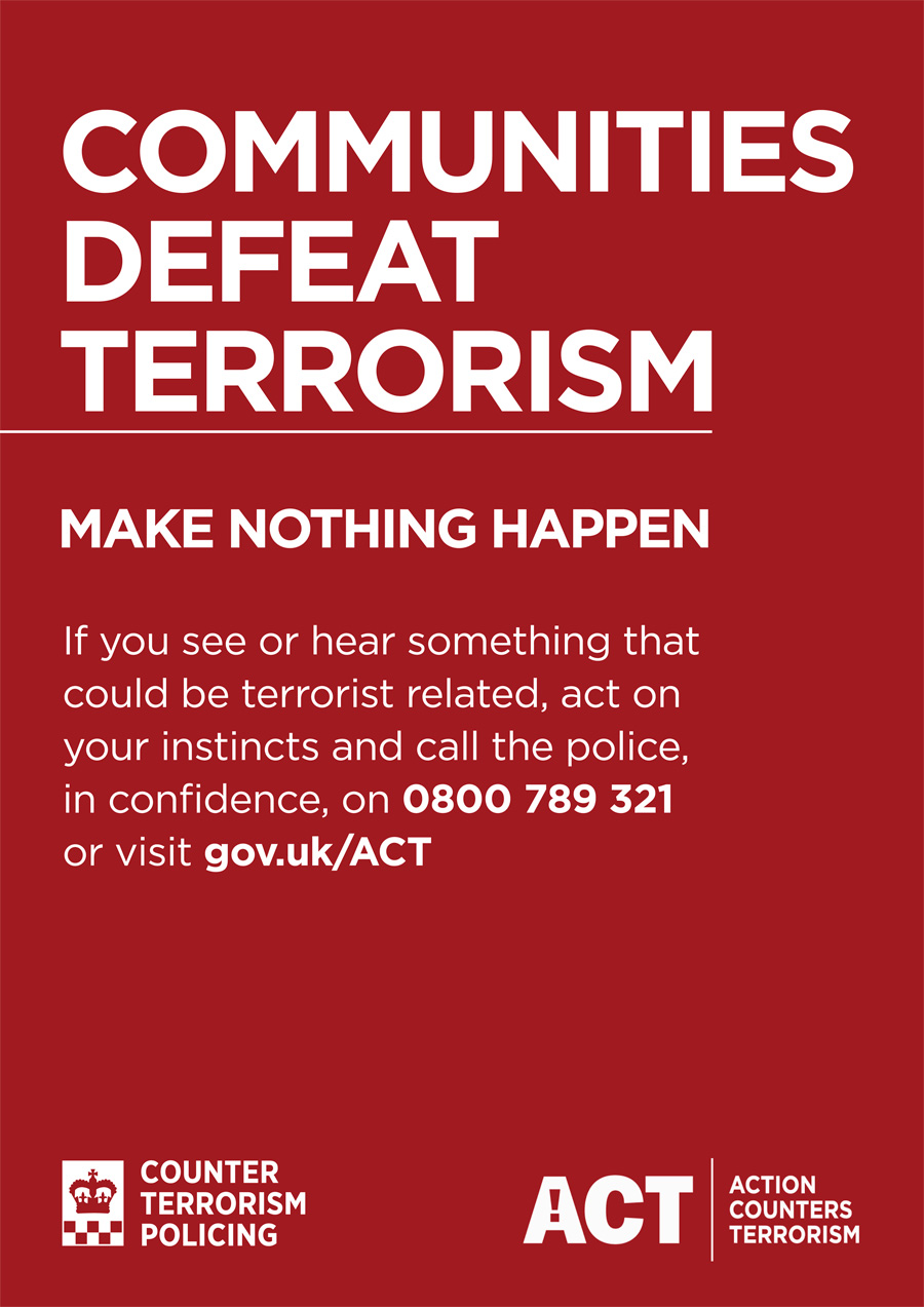ACT Communities Defeat Terrorism Poster