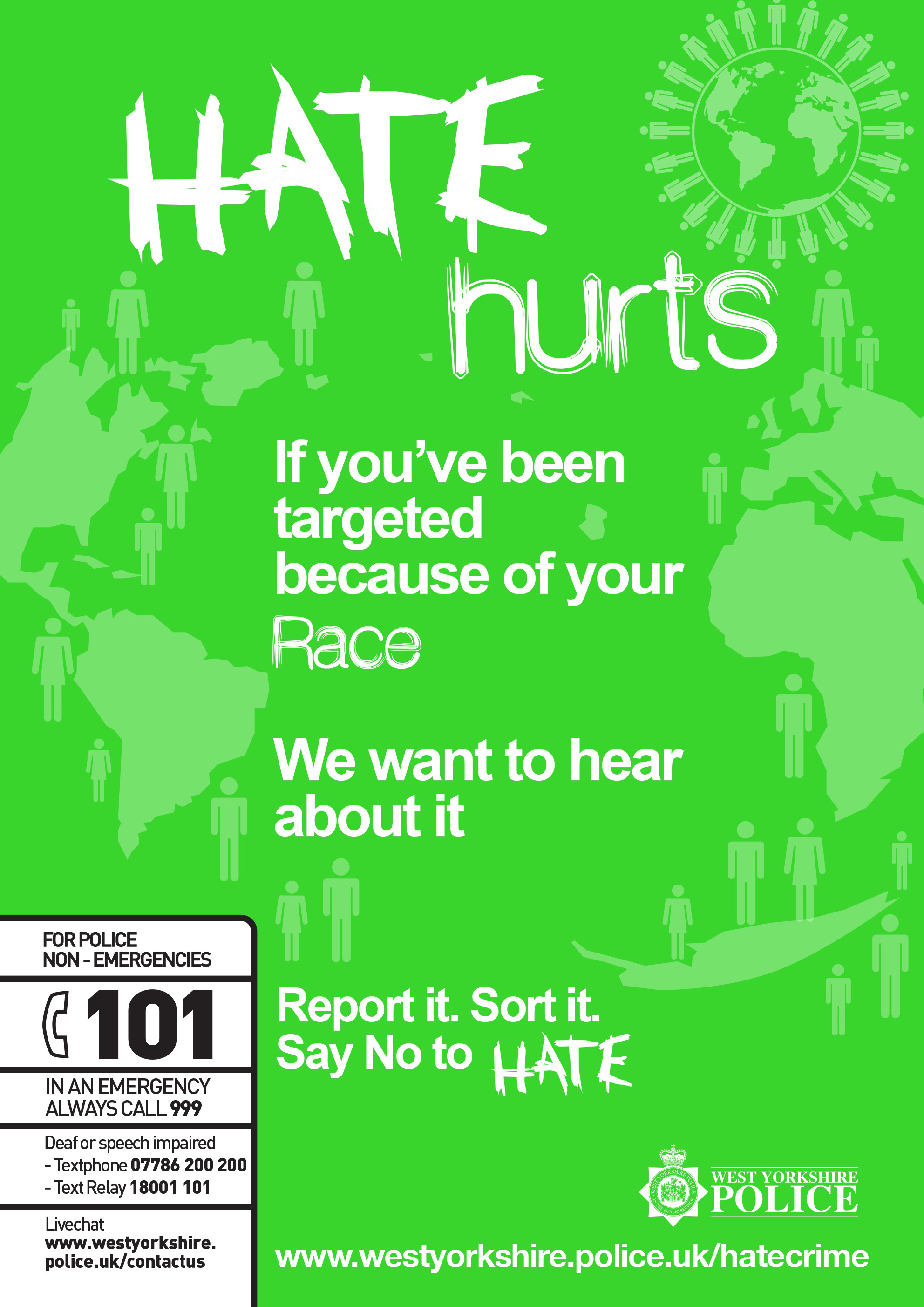 Hate Hurts Poster - Race