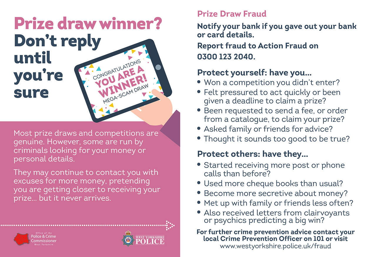 Fraud Card - Prize Draw