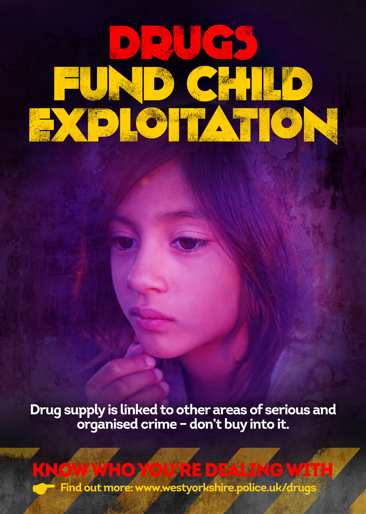 Drugs Fund Child Exploitation Poster