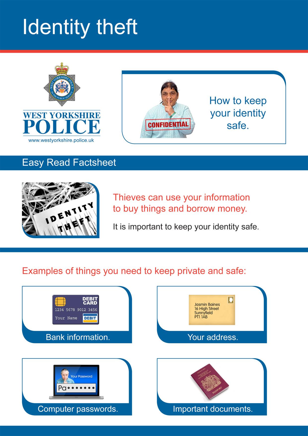 Easy Read - Identity Theft (PDF)