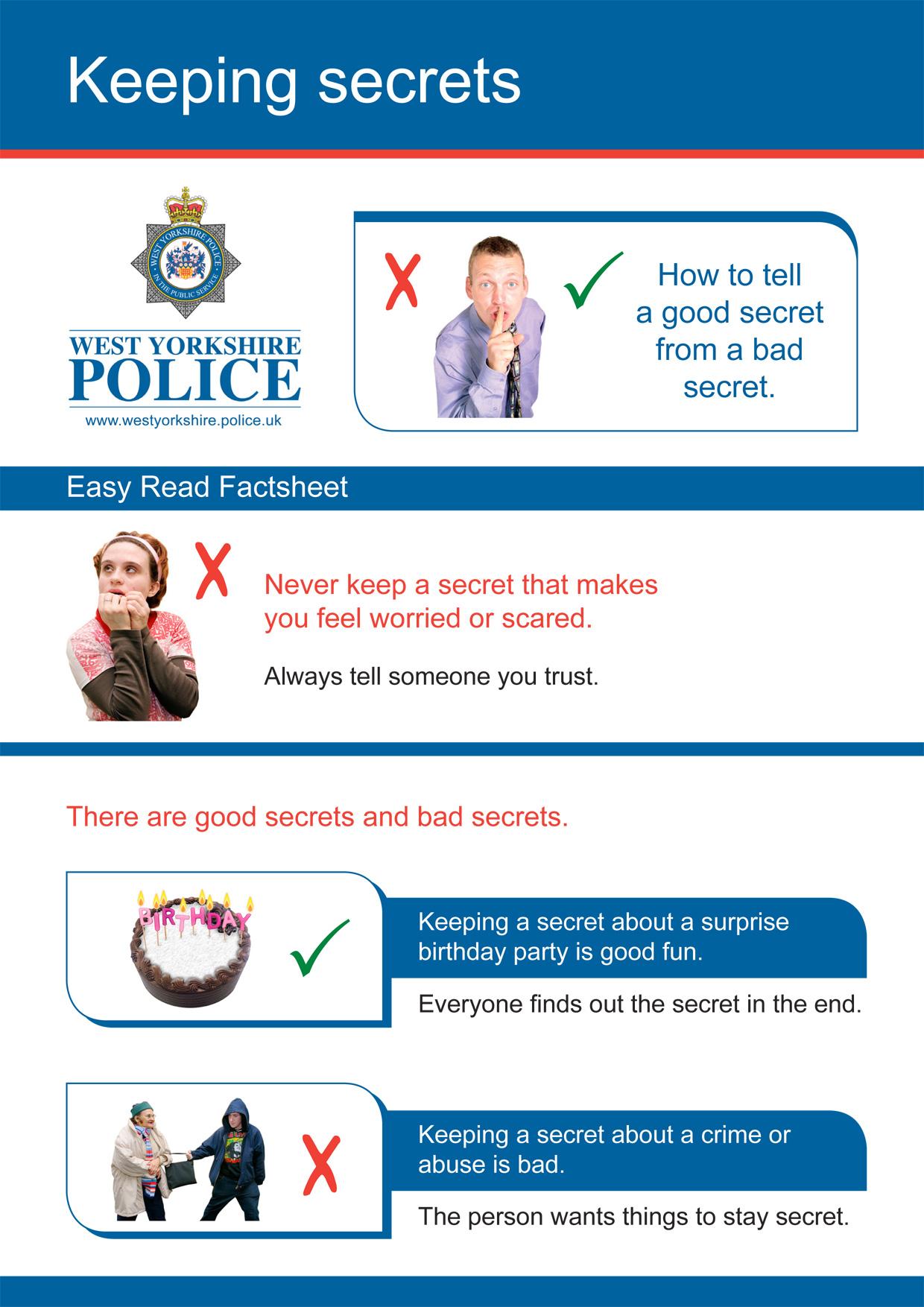 Easy Read - Keeping Secrets (PDF)