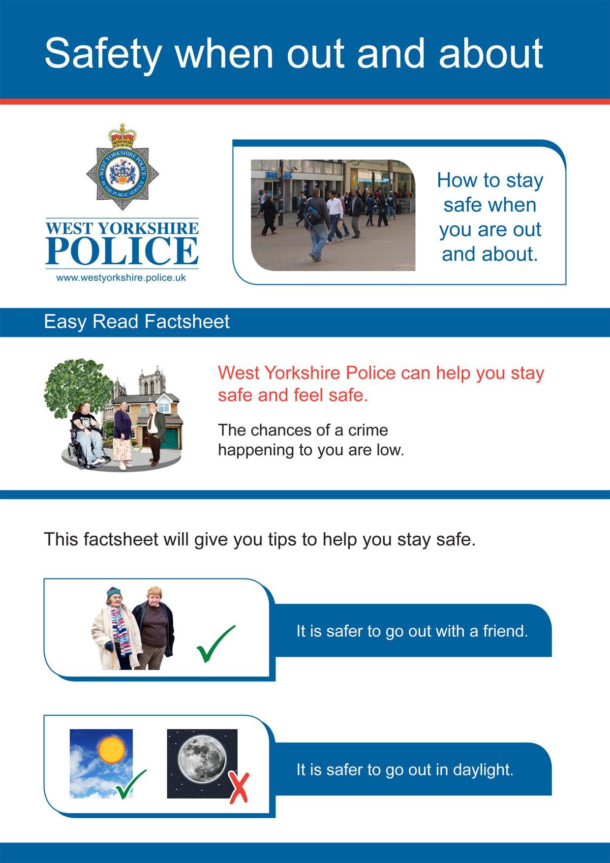 Easy Read - Safety When Out and About (PDF)