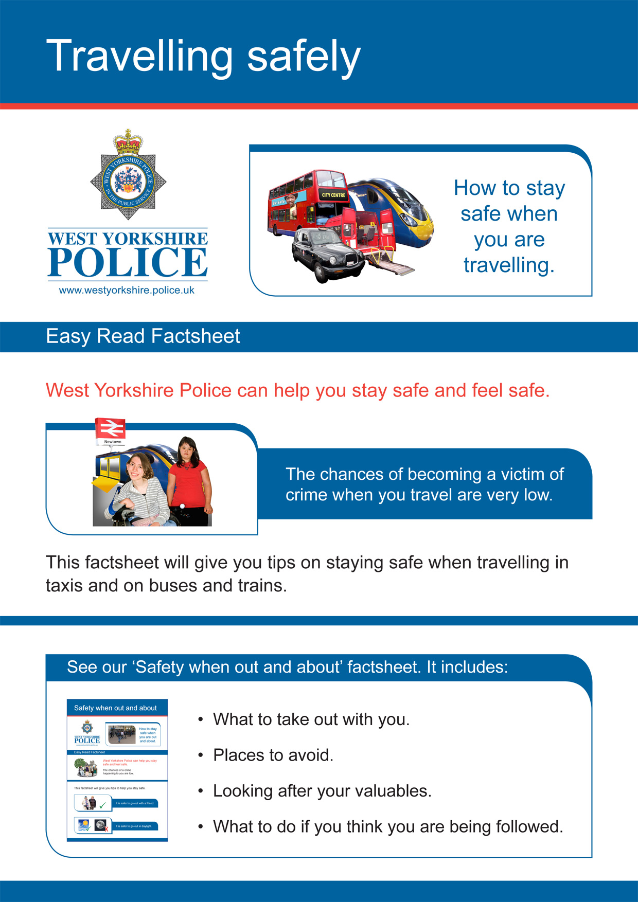 Easy Read - Travelling Safely (PDF)