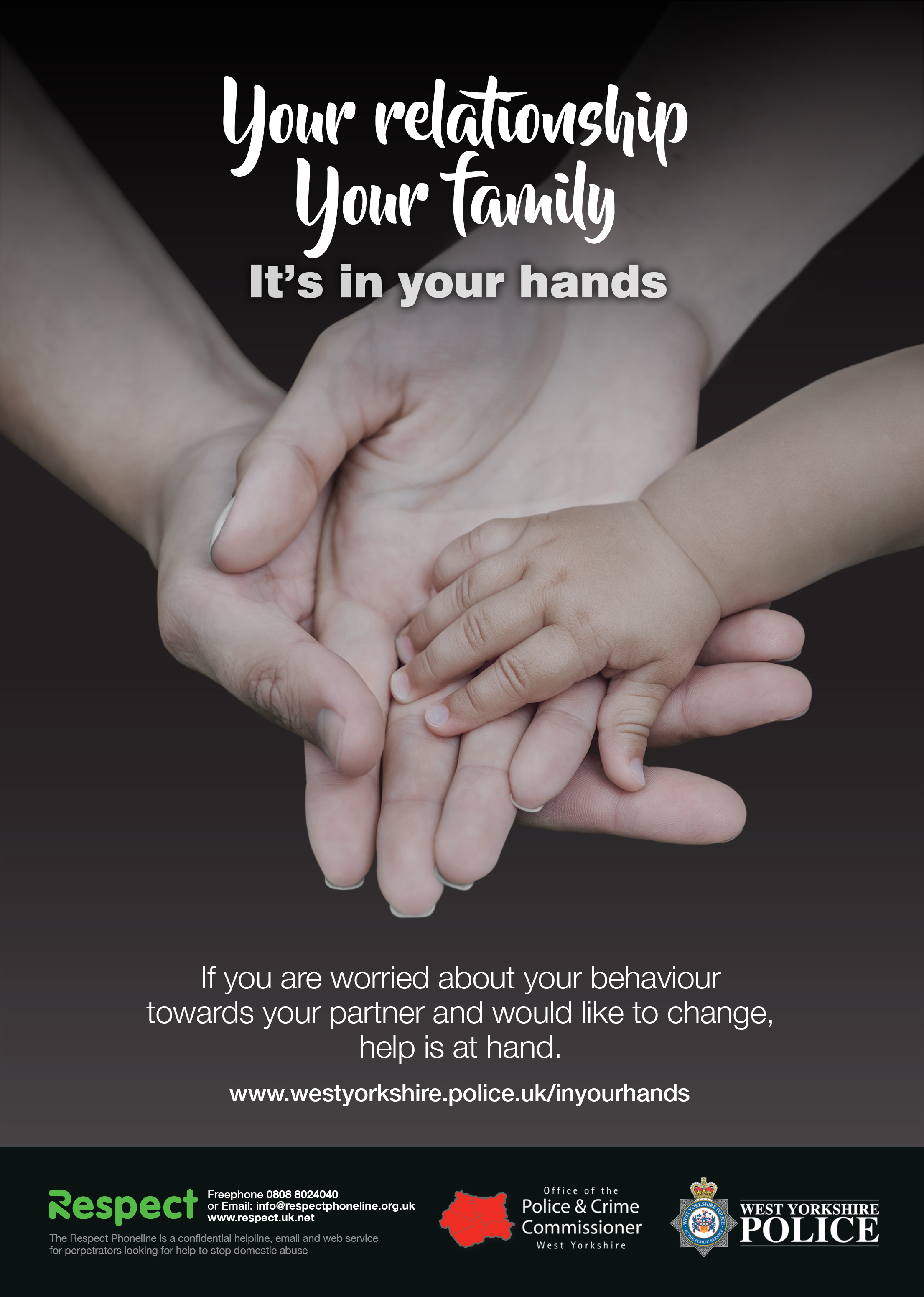 Your relationship, your family. It's in your hands. (family hands)