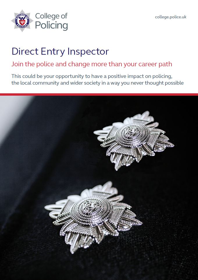Direct Entry Inspector Brochure Front Cover