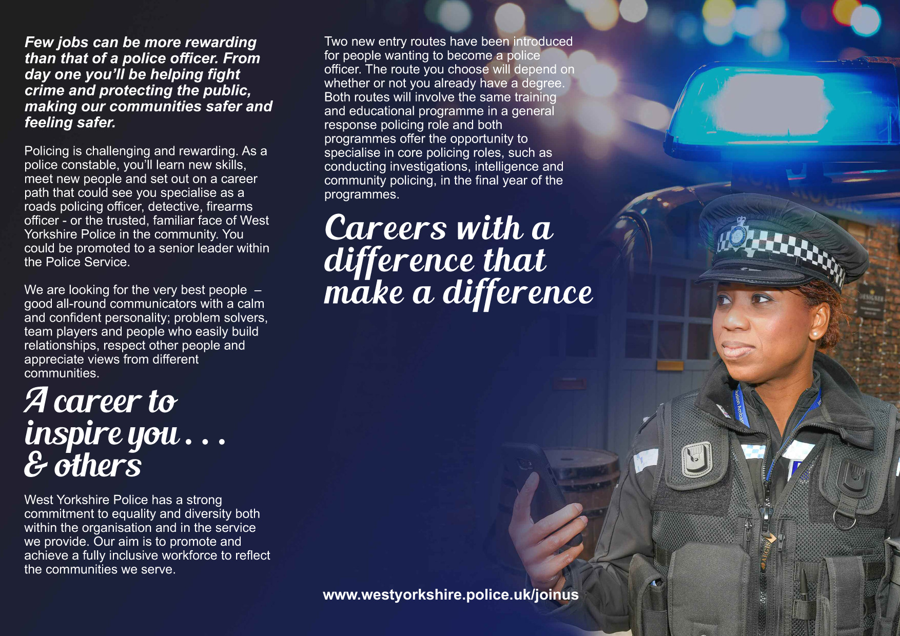 Unlock your potential... recruitment leaflet - part 2