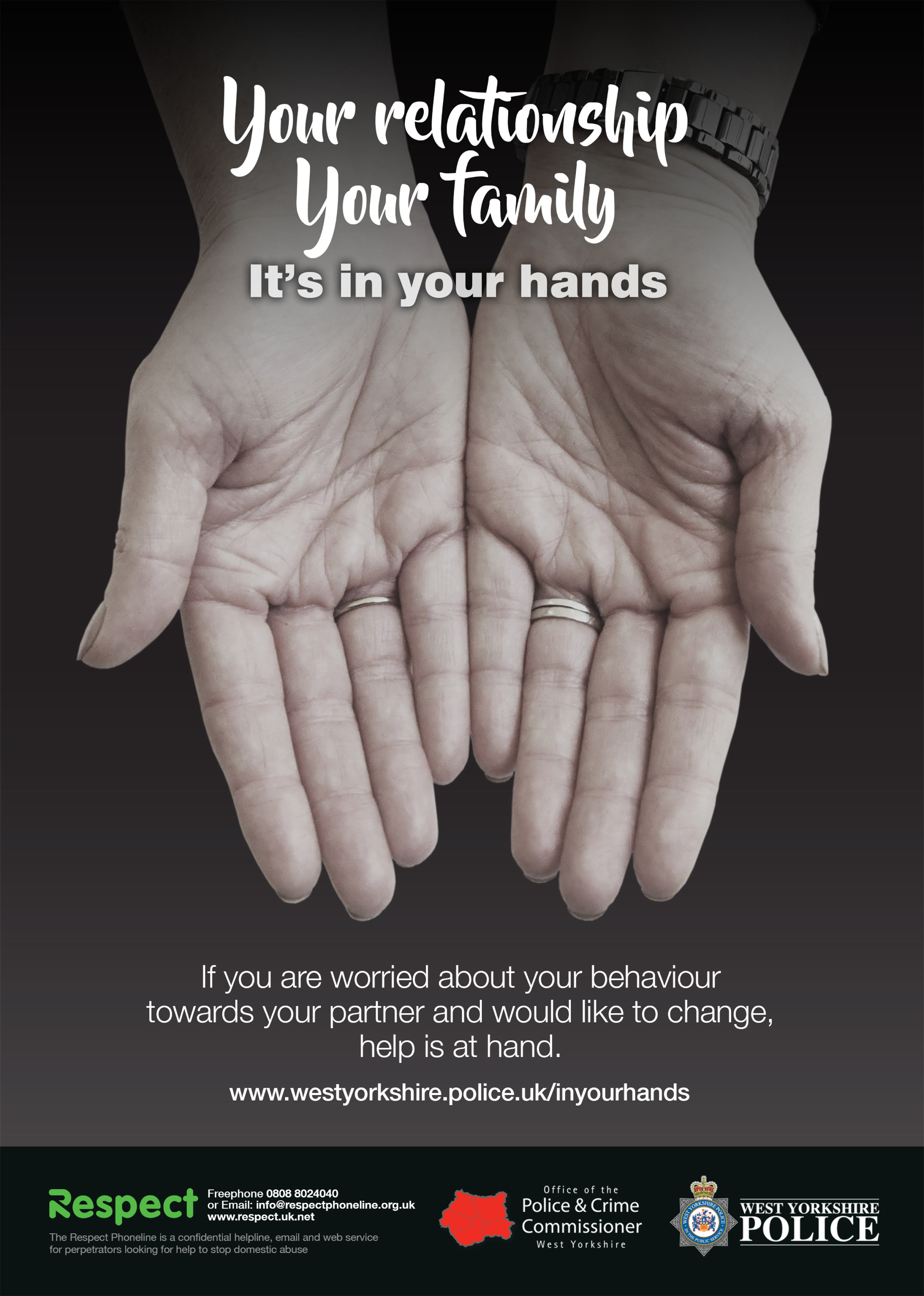 Your relationship, your family. It's in your hands.  (female hands)