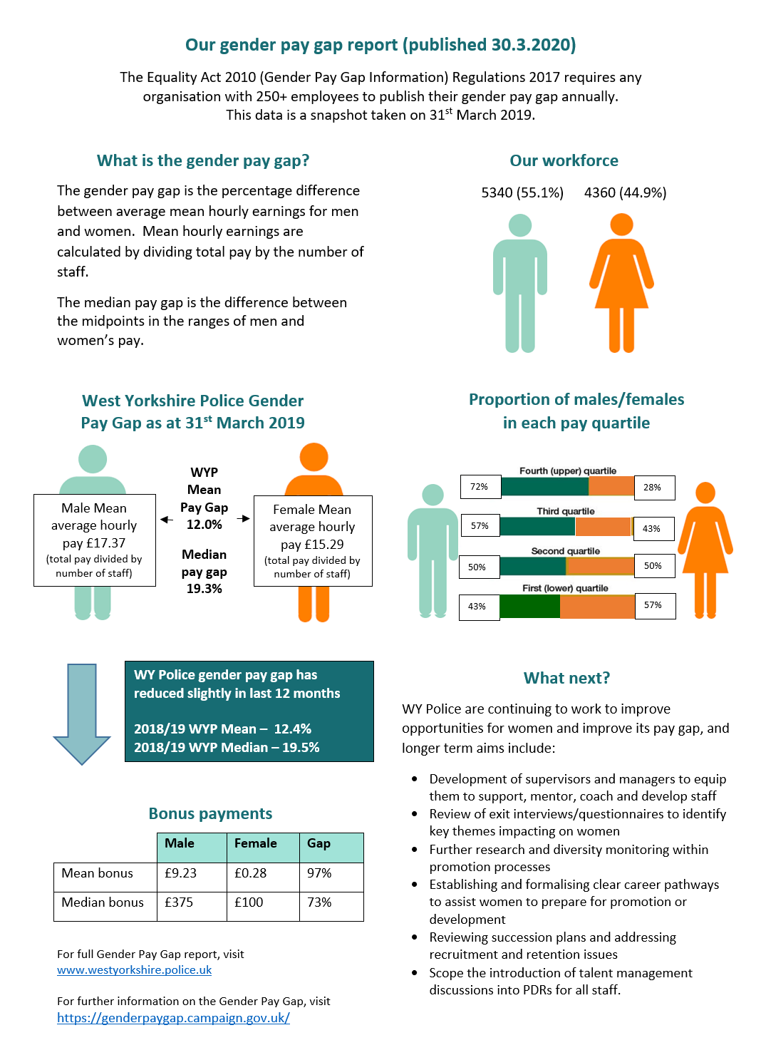 Gender Pay Gap Infographic