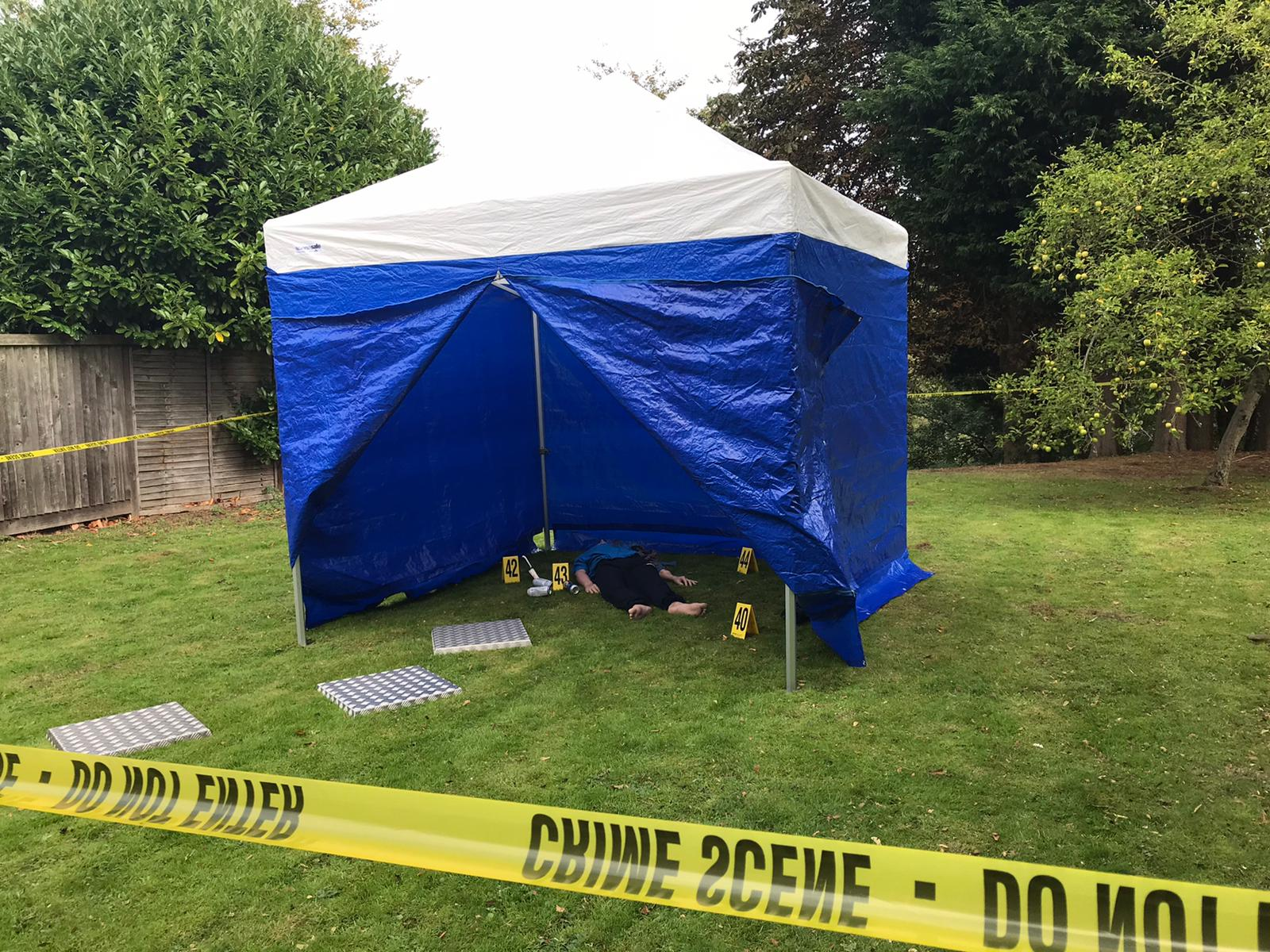 Police Tent at CSI Training Centre