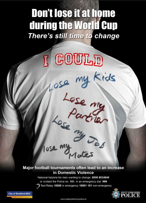 world cup domestic abuse posters