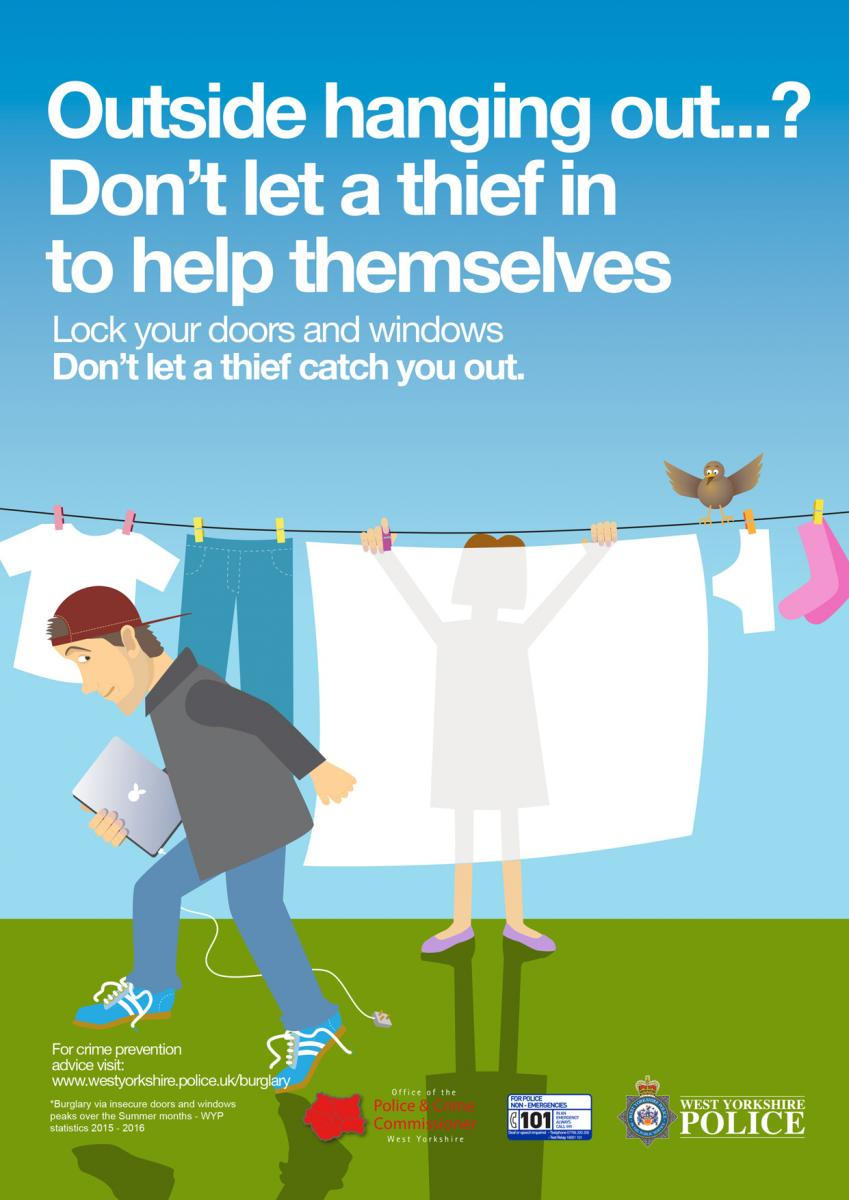 Spring Summer Anti Burglary Campaign 2016 West Yorkshire