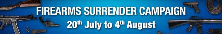 Firearms Surrender Campaign Header Image