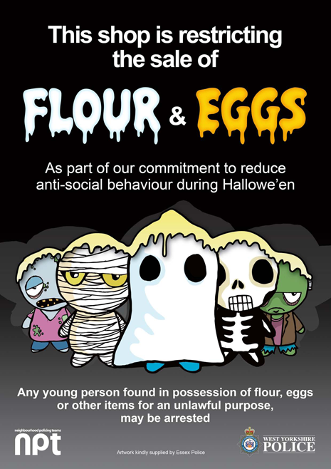 Flour and eggs poster