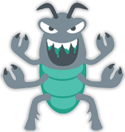 Block The Web Monsters - roach