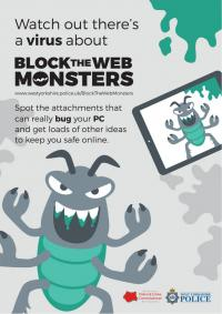 Block The  Web Monsters - Roach - POSTER