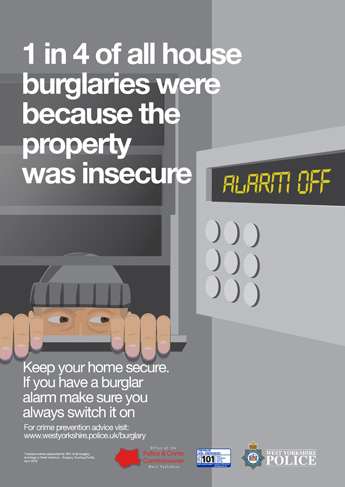 Autumn Winter 2015 Anti Burglary Campaign - Alarm Poster