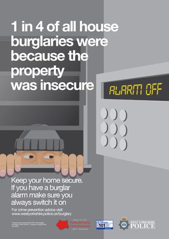 Autumn Winter 2015 Anti Burglary Campaign - Alarm Poster