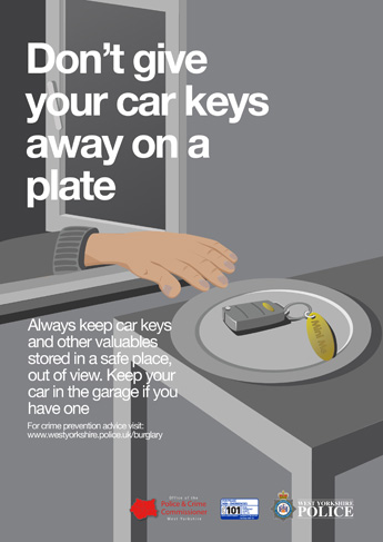 Autumn Winter 2015 Anti Burglary Campaign - Keys Poster