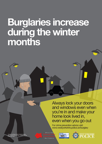 Autumn Winter 2015 Anti Burglary Campaign - Dark Nights Poster