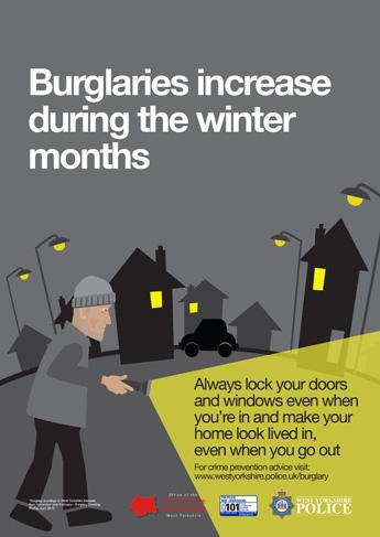 Autumn Winter 2015 Anti Burglary Campaign - Dark Nights Poster