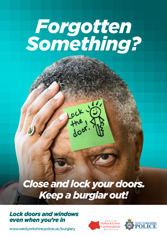 """Forgotten Something?"" doors sticky note poster"