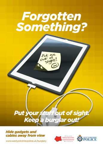 """Forgotten Something?"" tablet sticky note poster"