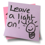 Leave a light on!