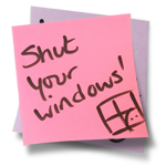 Shut your windows