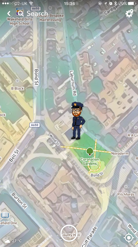 Snapchat Snap Maps Sharing Mode - click to enlarge