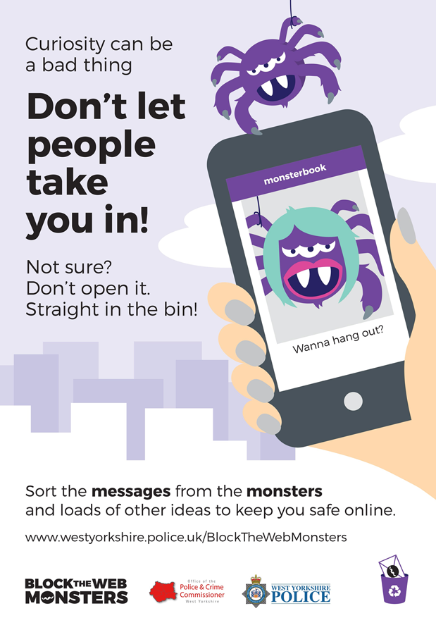 Block The Web Monsters Cyber Crime West Yorkshire Police