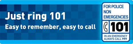 Just ring 101 - easy to remember, easy to call