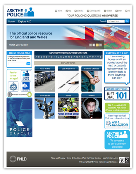 Ask The Police screen shot (and link)