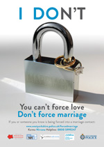 I DON'T - forced marriage campaign