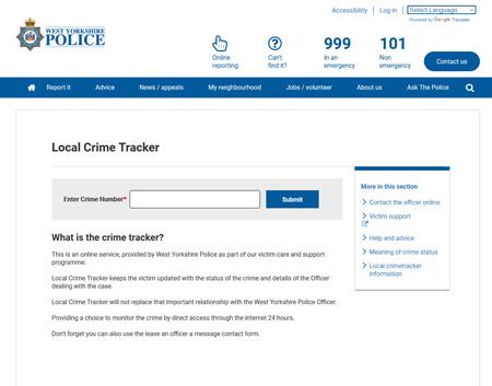 Local Crime Tracker