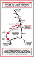 Leeds Festival Route Map (image) - click to enlarge