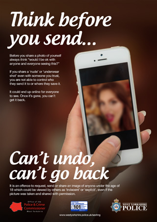 Think before you send (female) poster (JPEG)