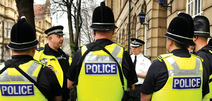 Special Constables at a Street Briefing