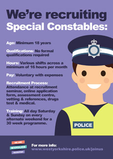 Recruitment poster - Special Constables