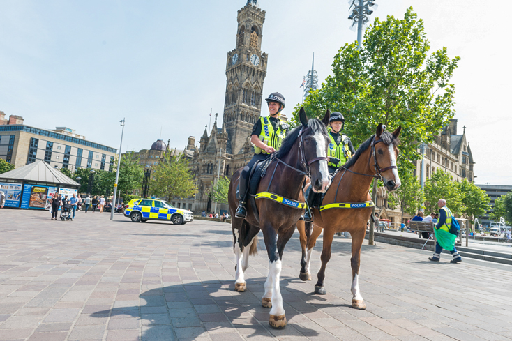 Project Servator Officers on horseback