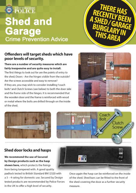 Shed and Garage Leaflet