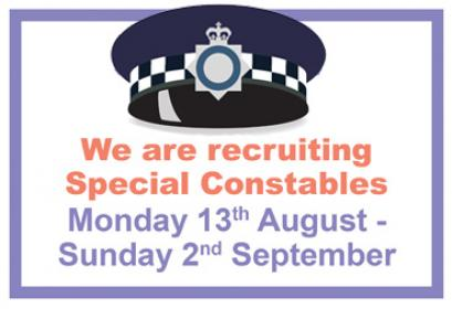 Recruitment for Special Constables is now open!