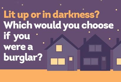 Lit up or in darkness? Crime prevention tips for your home.