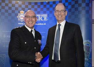 Chief Superintendent Dickie Whitehead and Lord Lieutenant Ed Anderson