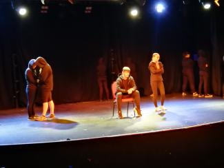 scene from the stage version of Angel of Knives