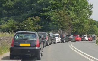 picture of parking at shibden hall
