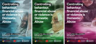 Three elders domestic abuse posters
